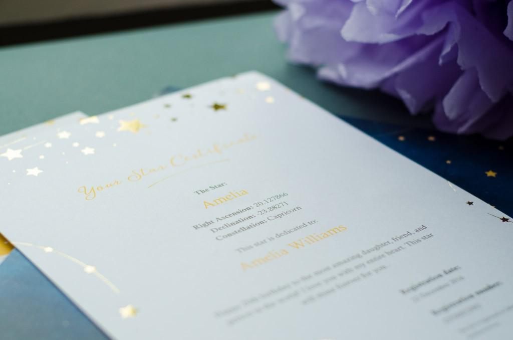 certificatewithdedicatedstargoldenprintestarregistry
